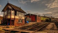 Cute Train Station Background 38792