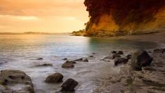 Free Rocky Shore Wallpaper 33959
