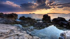 Rocky Shore Wallpaper 33970