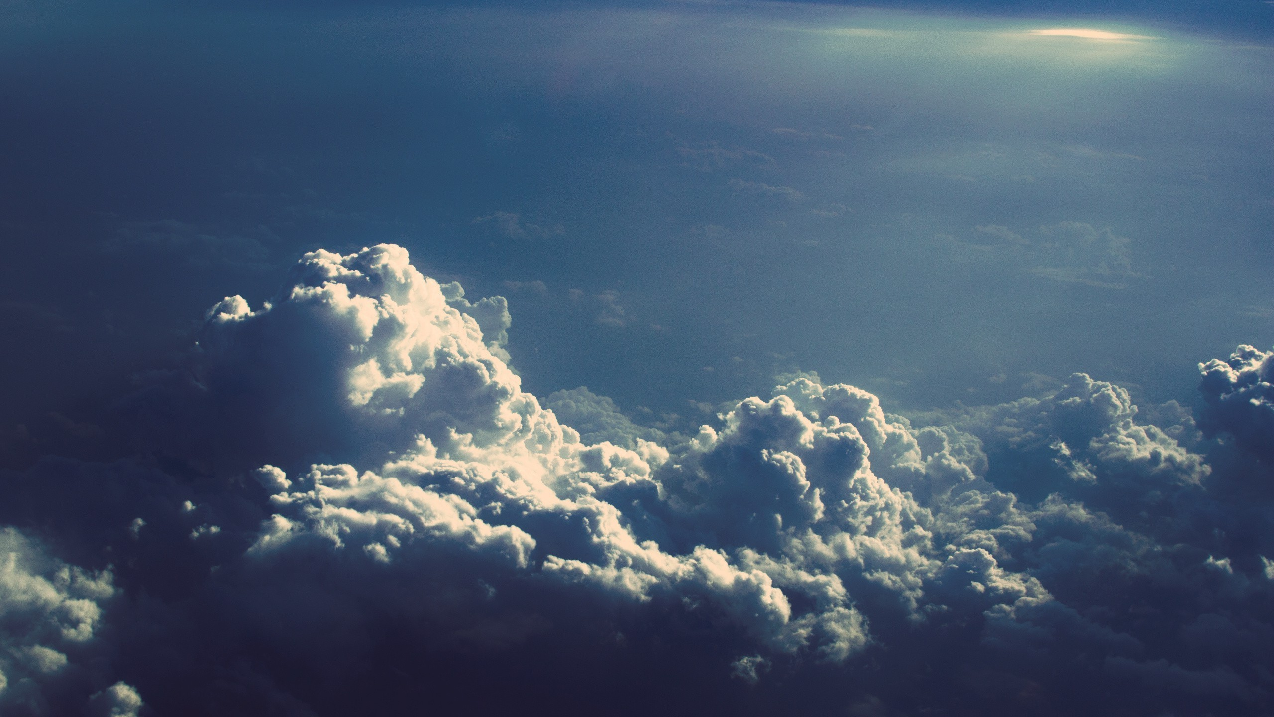 awesome above the clouds wallpaper 33858 2560x1440 px