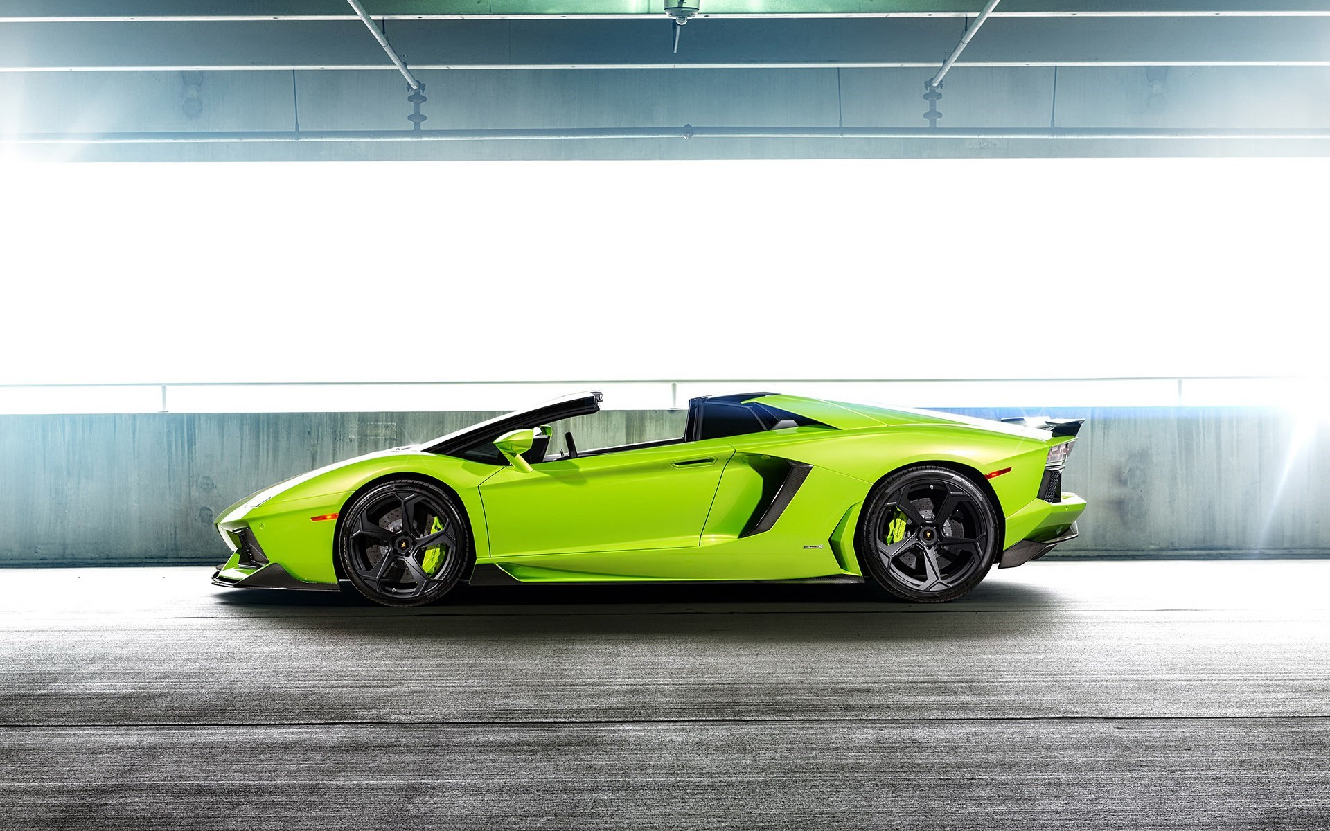 awesome green car 32628