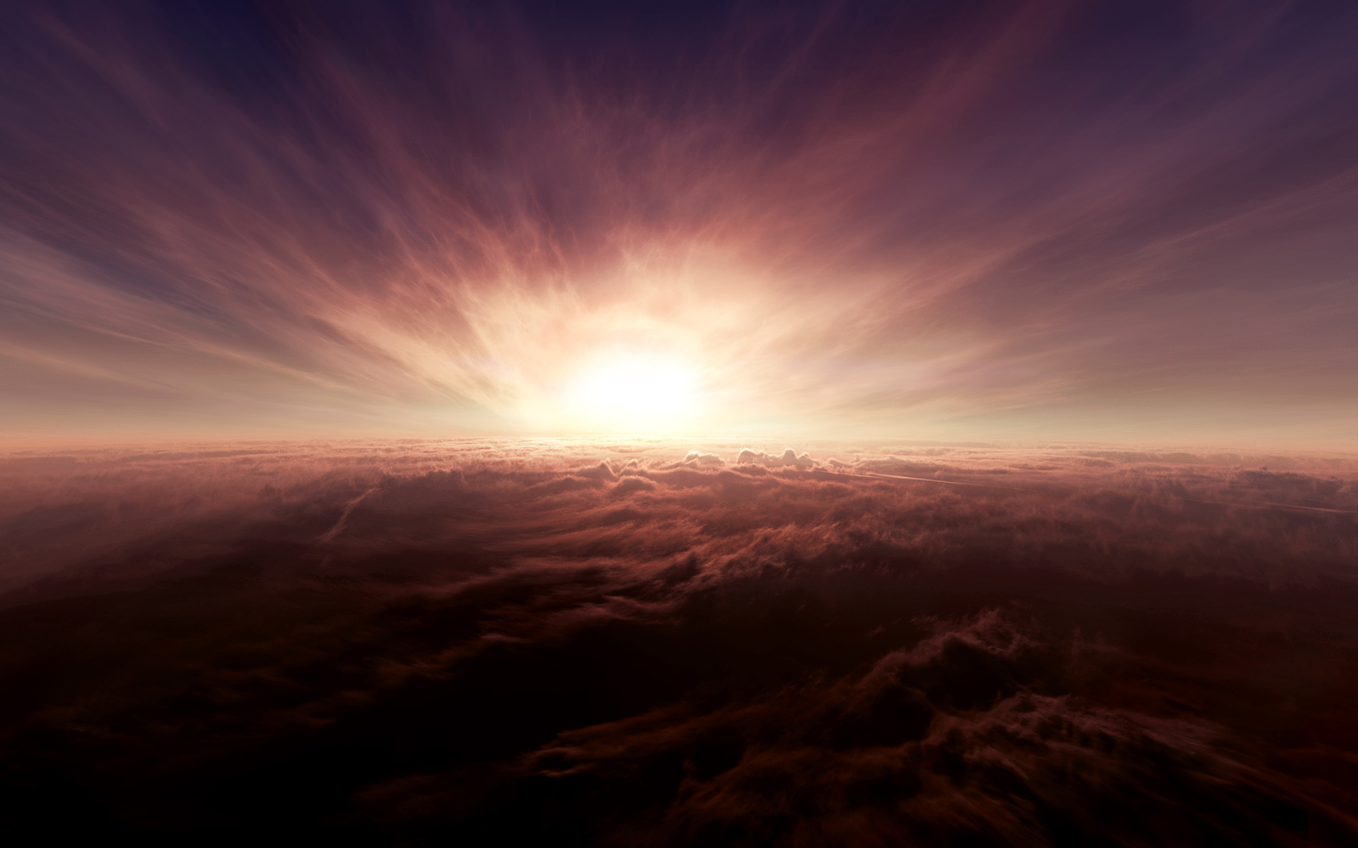 beautiful above the clouds wallpaper 33854