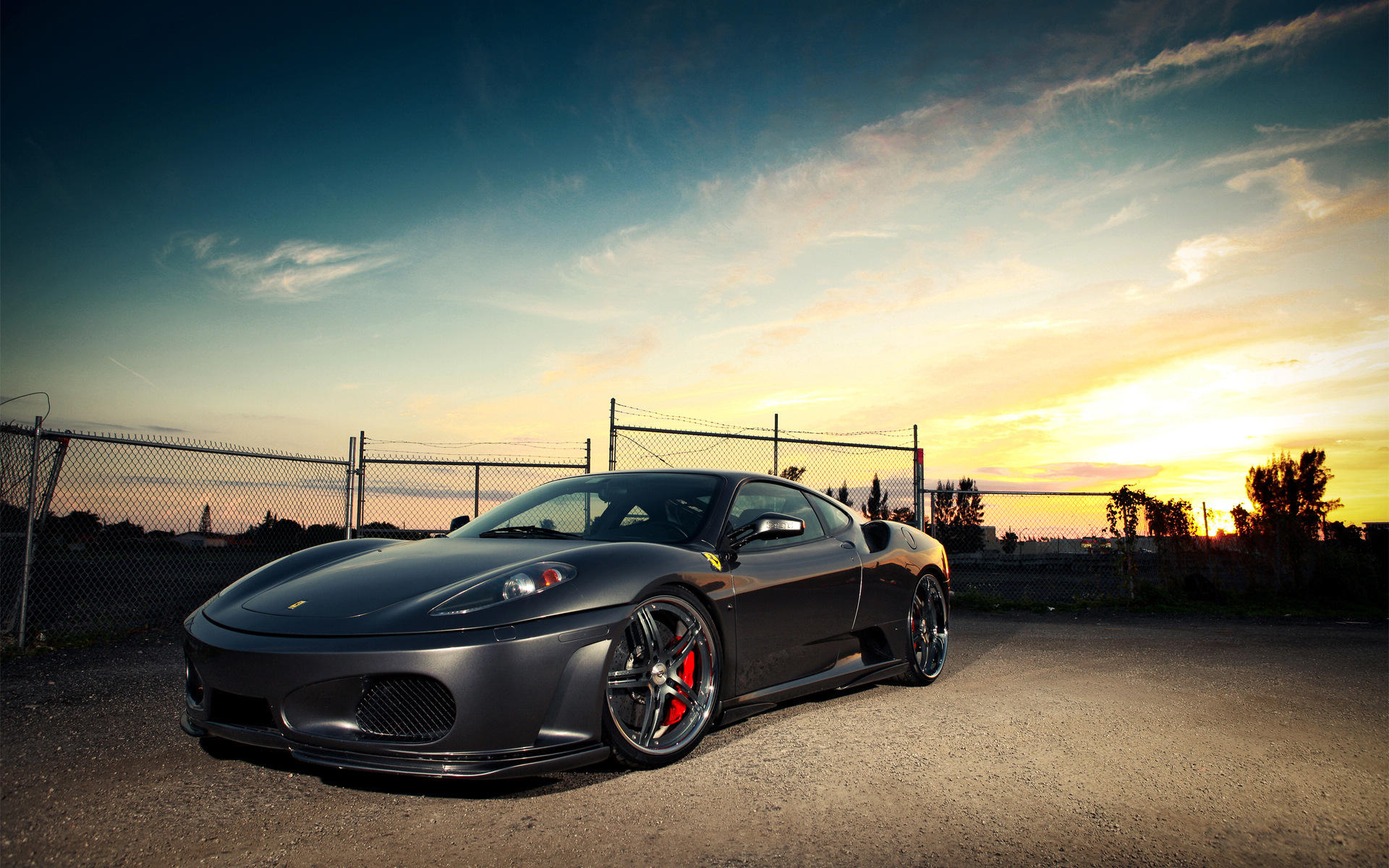 black ferrari car wallpaper 45125