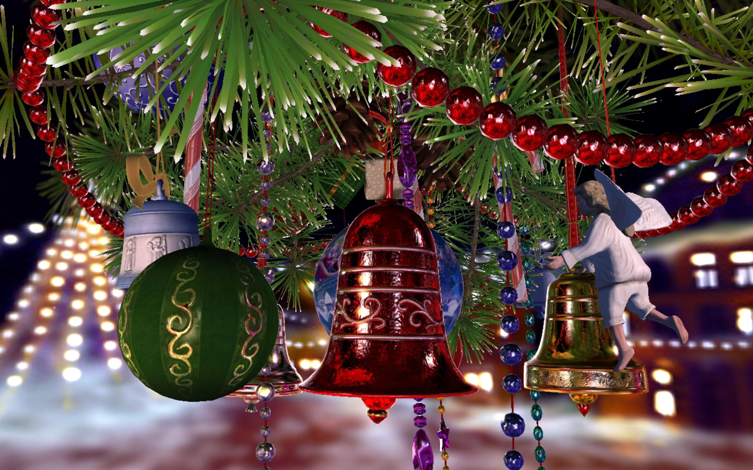 christmas bell background 39631 2560x1600 px hdwallsource com