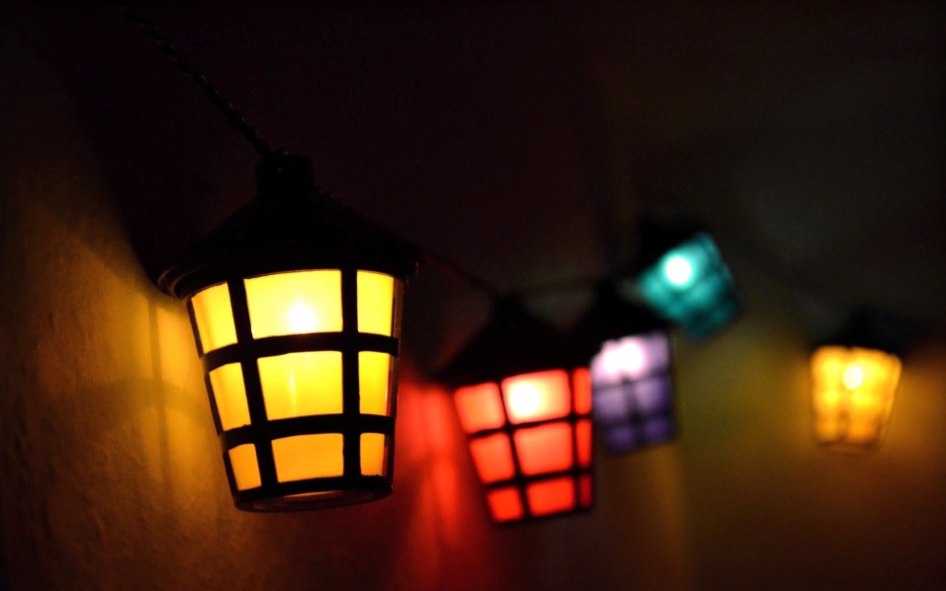 colorful mood lantern wallpaper 43507