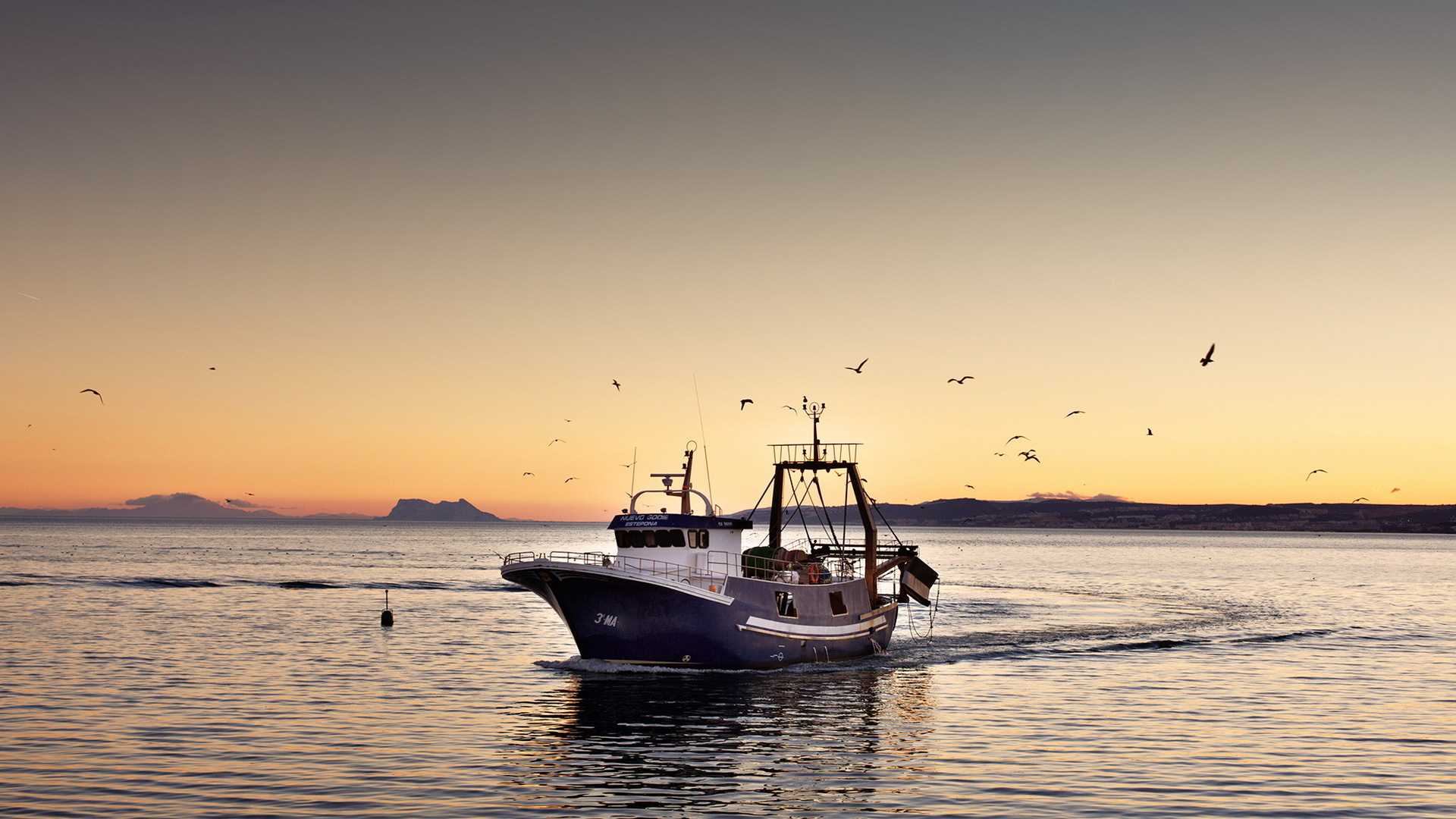 fishing boat wallpaper 41865