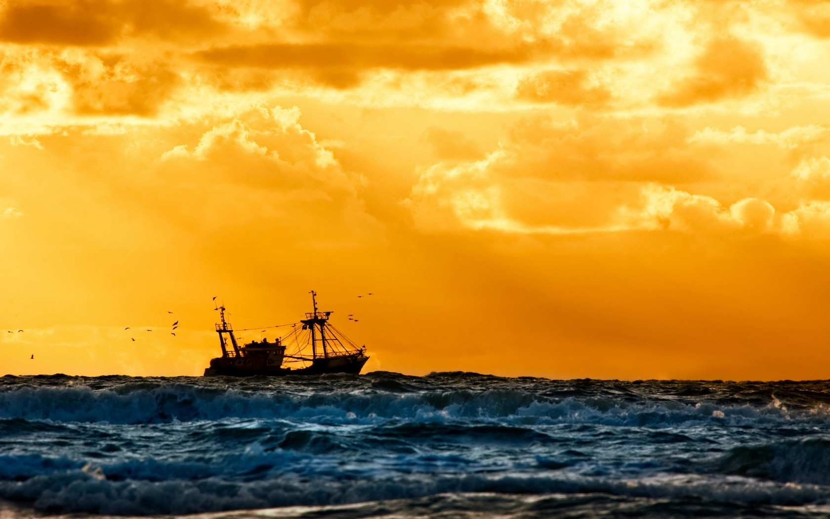fishing boat wallpaper 41869