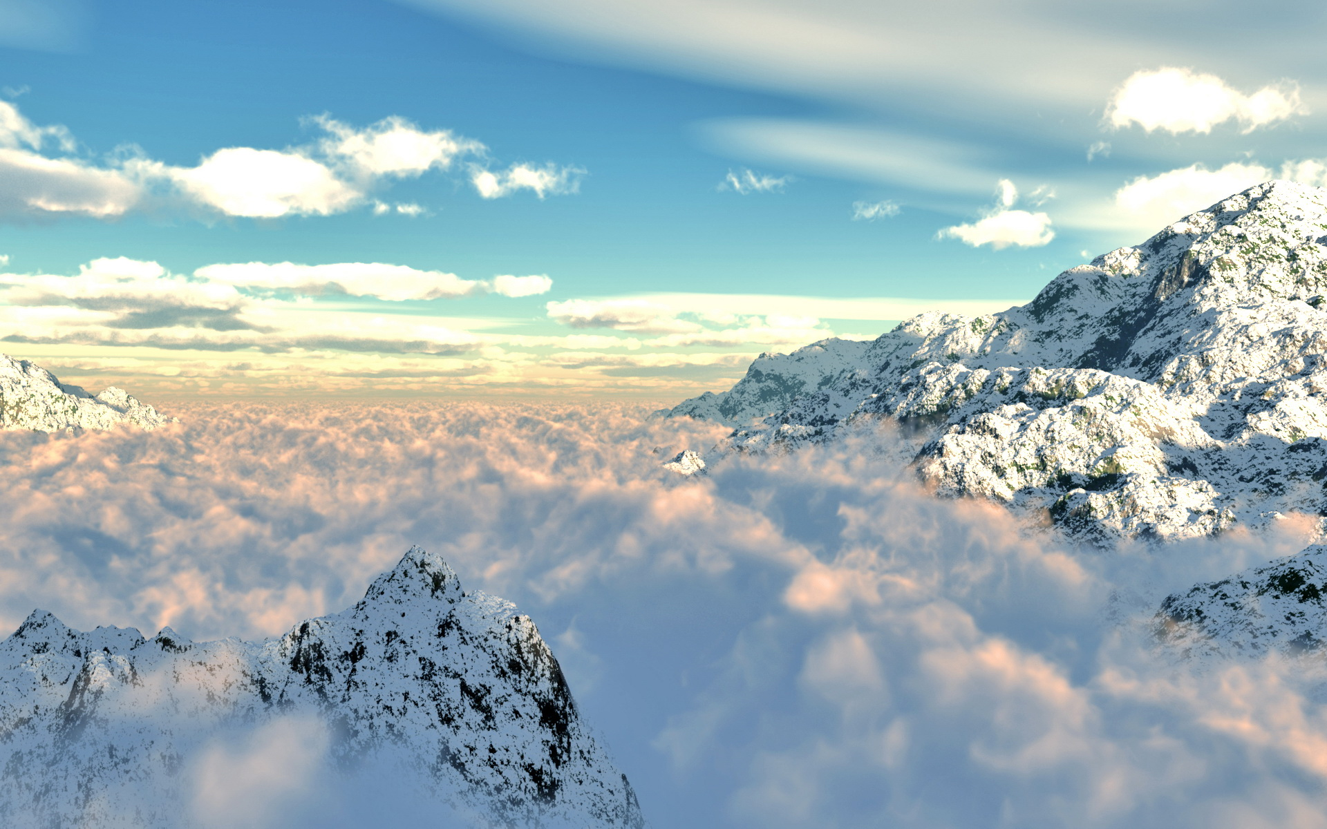 free above the clouds wallpaper 33851