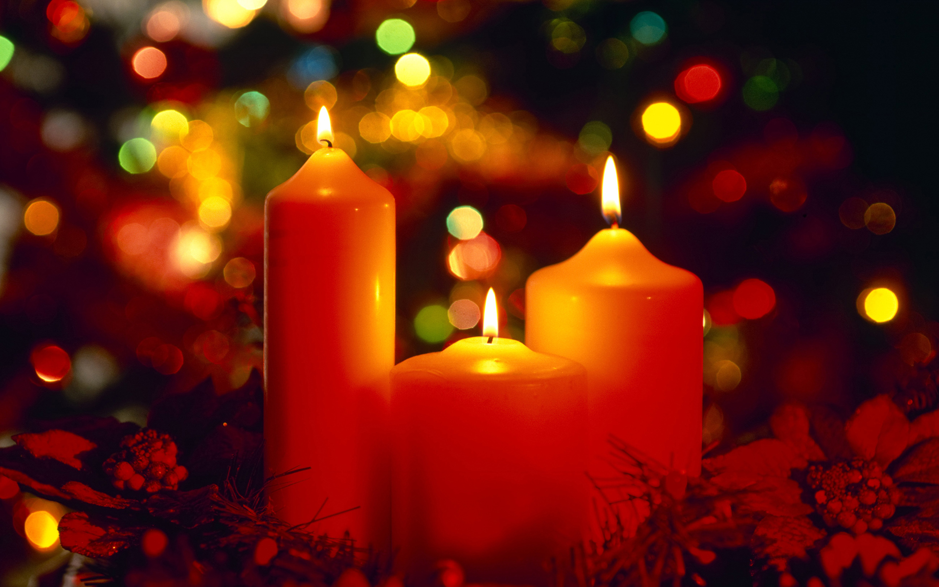 free christmas candles wallpaper 41076