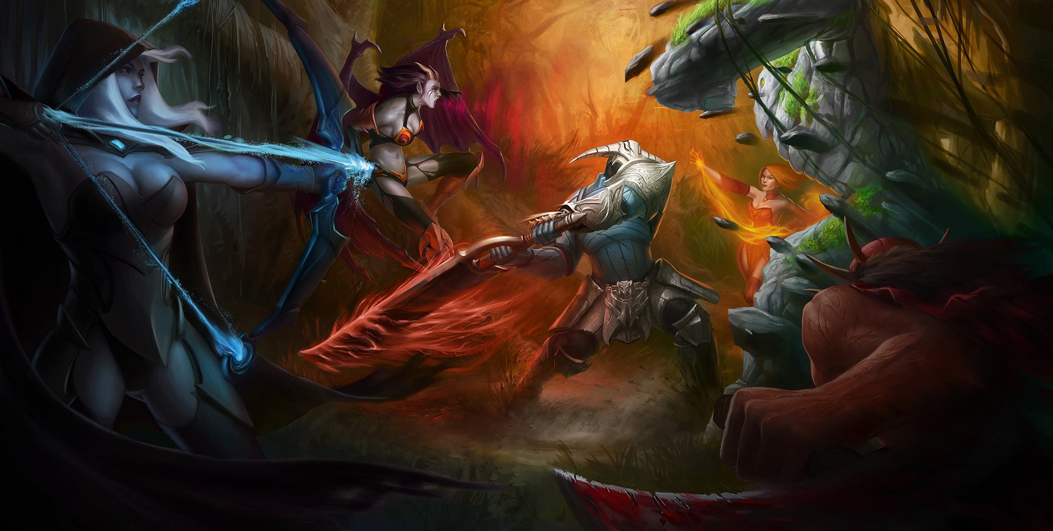 free dota 2 wallpaper 22950 2048x1033 px hdwallsource com