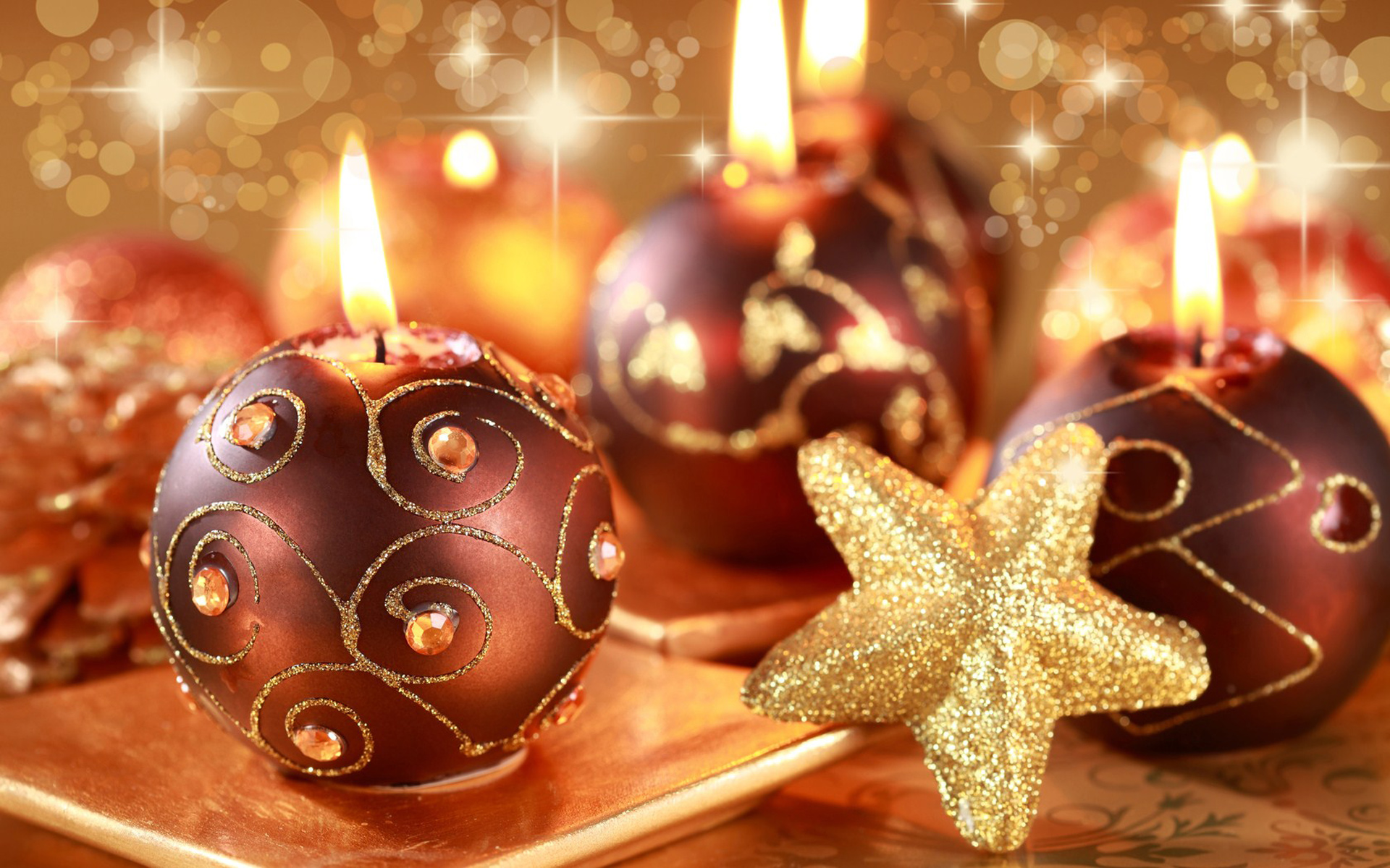 Lovely Christmas Candles Wallpaper 41083 1920x1200 px ...