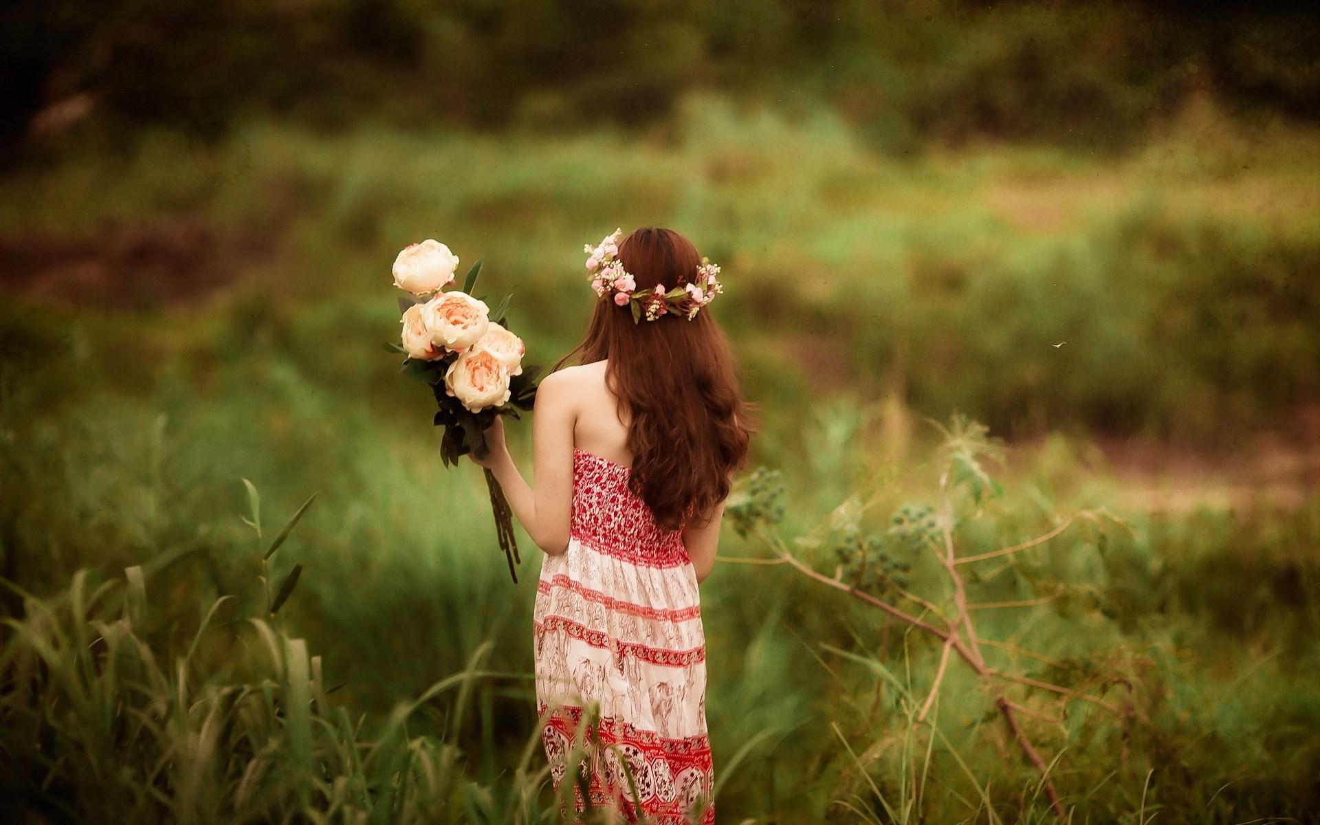 lovely girl mood wallpaper 42744