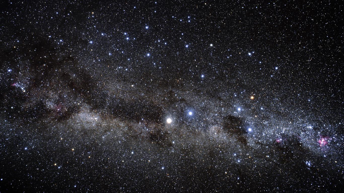 milky way wallpaper 28609 1366x768 px