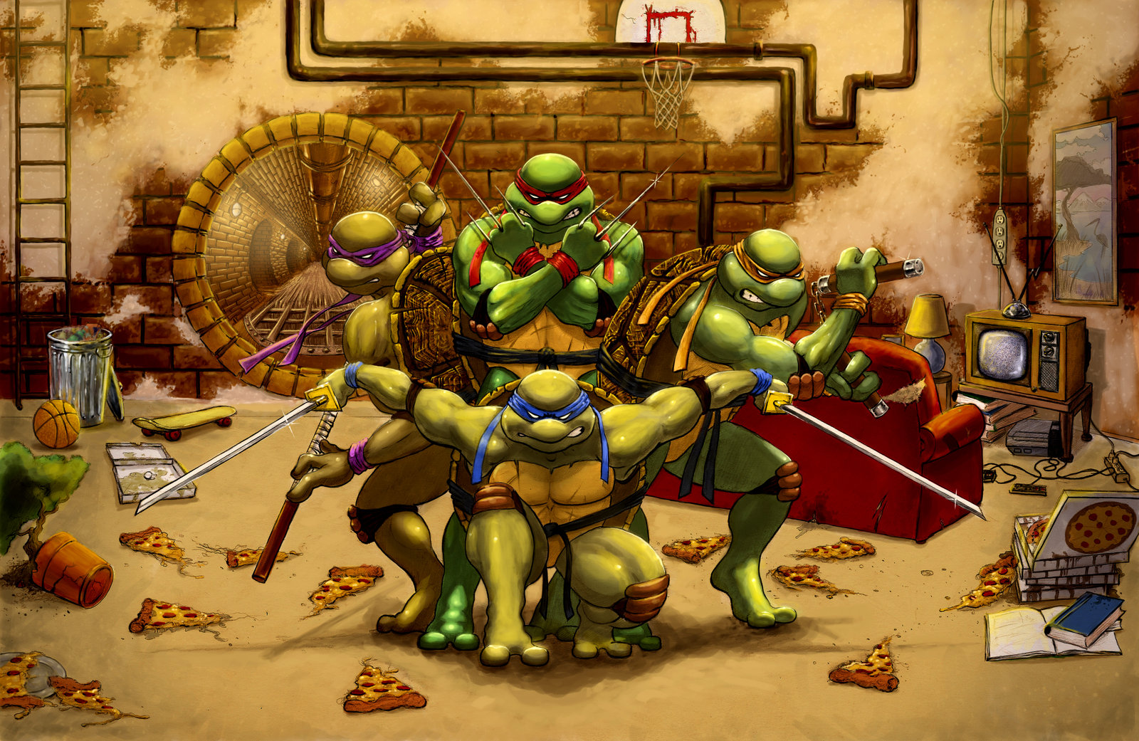 Ninja Turtles Wallpaper 4627 1600x1041 px HDWallSourcecom