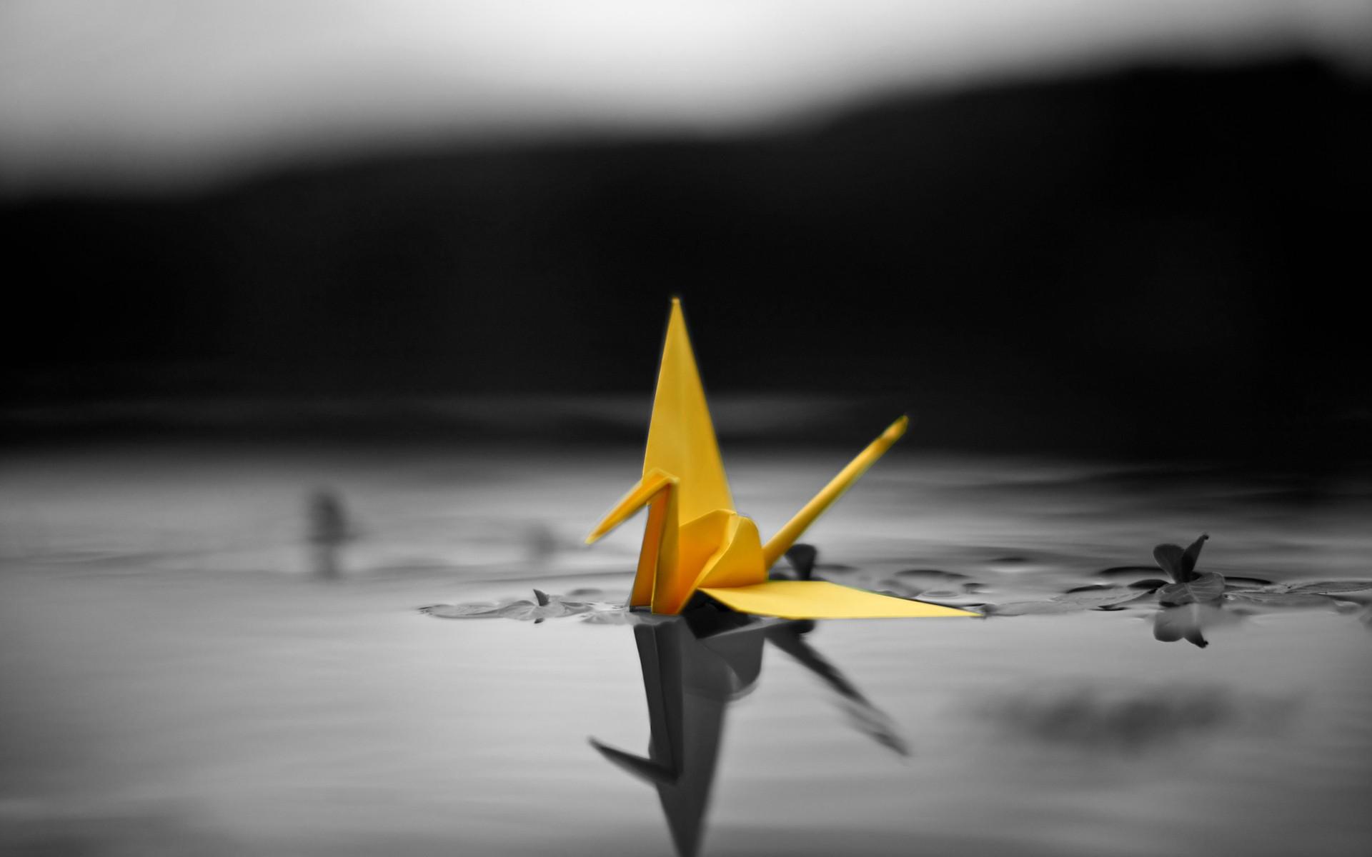 pretty yellow origami wallpaper 41116