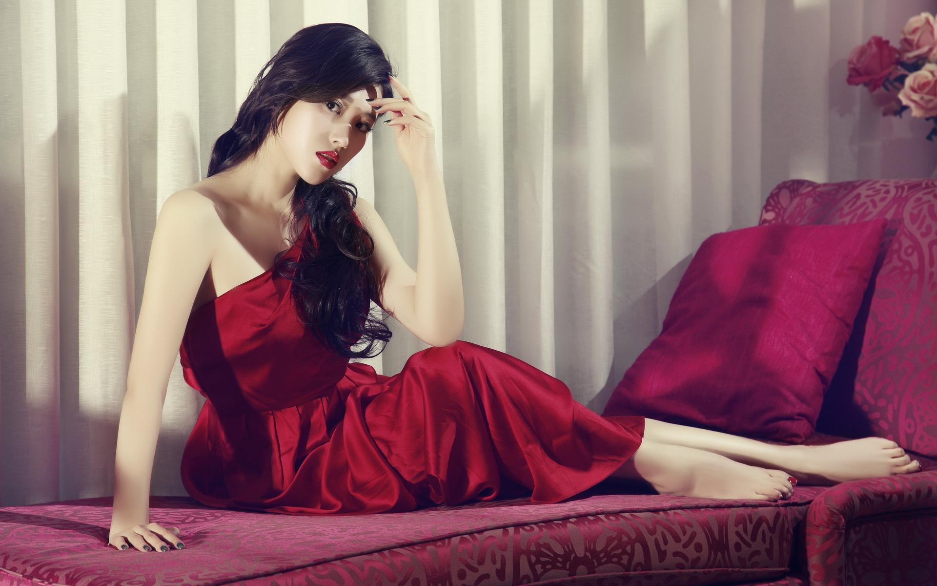red dress wallpaper 34987