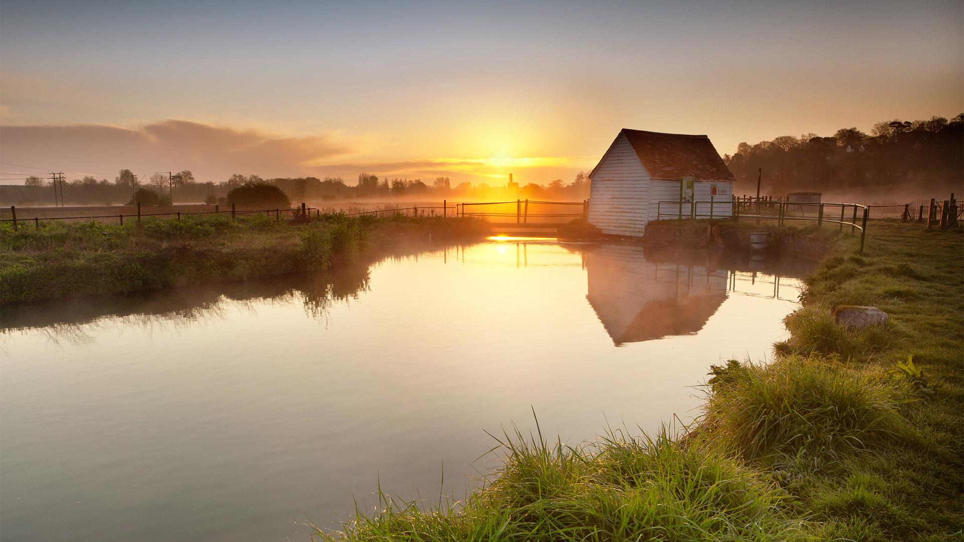 swamp sunset wallpaper 42693