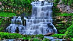 Beautiful Forest Waterfall Wallpaper 34055
