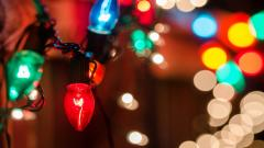 Colorful Garland Lights Wallpaper 41109