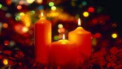 Free Christmas Candles Wallpaper 41076