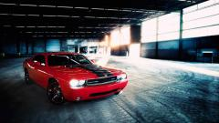 Red Dodge Challenger 23689