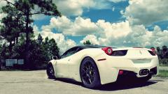 White Ferrari Car Wallpaper 45127