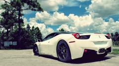 White Ferrari Car Wallpaper 45127