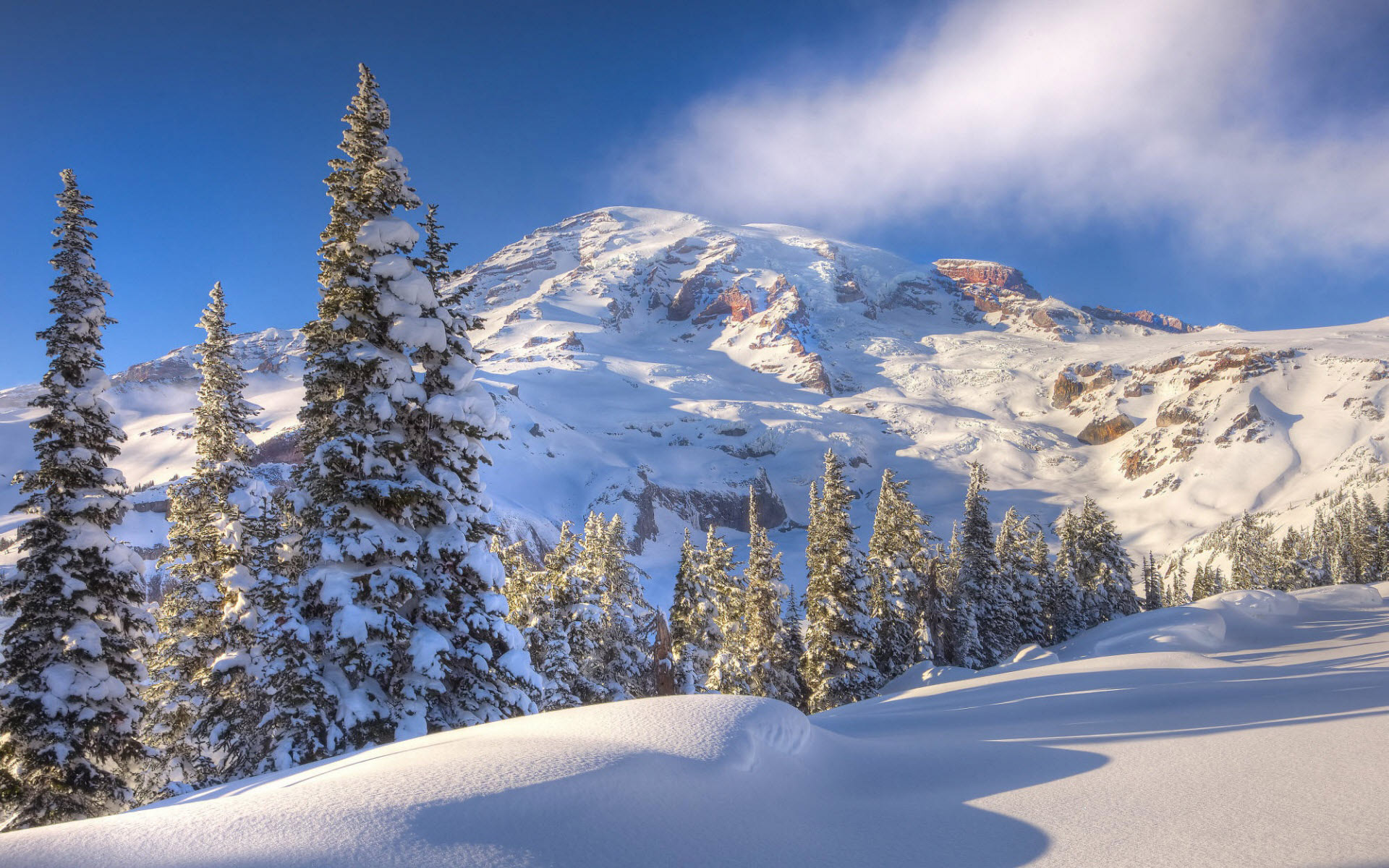 winter mountain wallpaper 29604