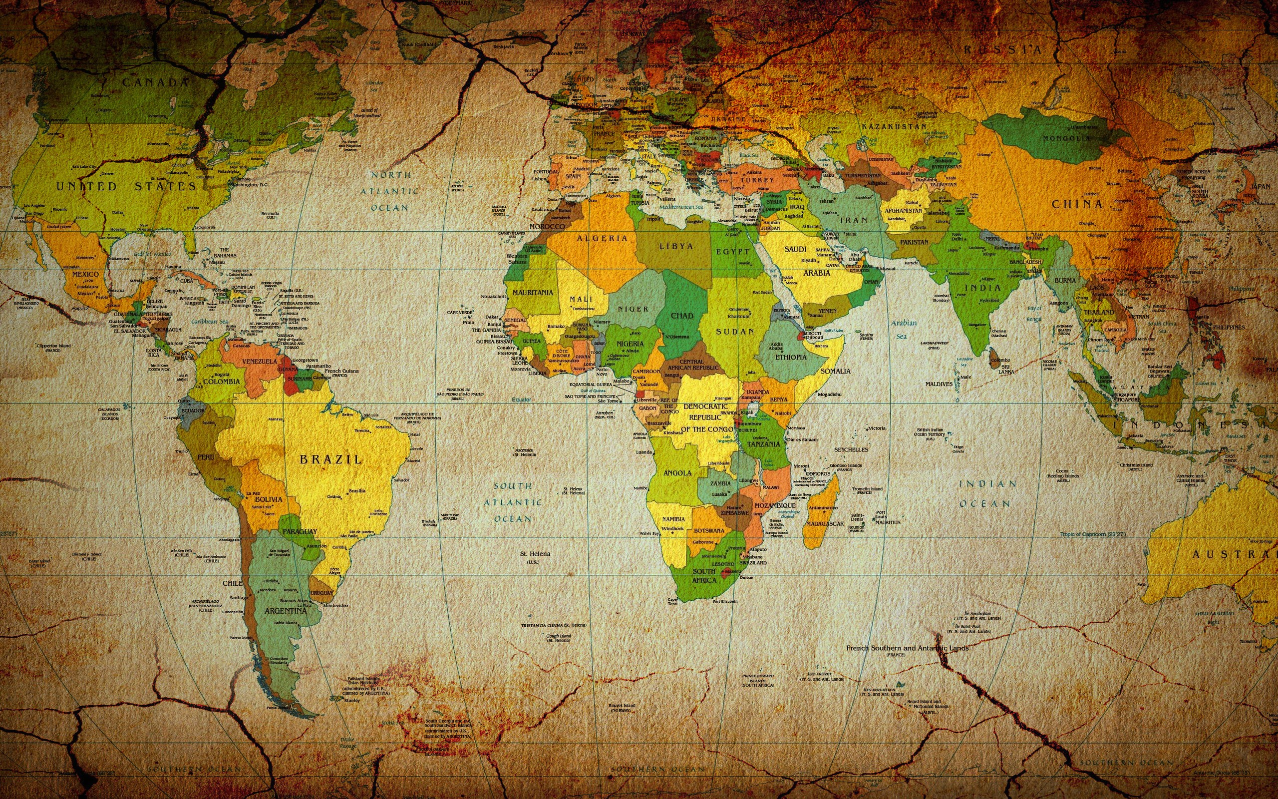 World map wallpaper 6254 2560x1600 px hdwallsource world map wallpaper 6254 gumiabroncs Images