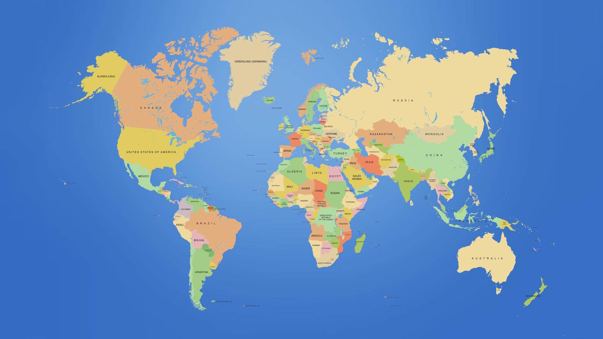 World Map Wallpaper 6258 1920x1080 px