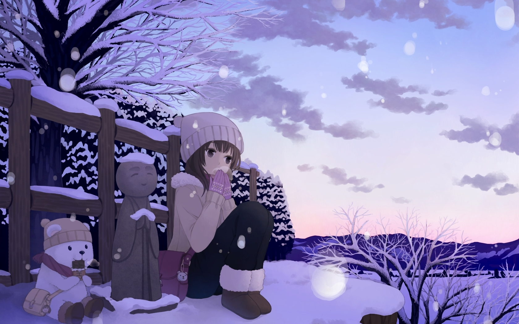 Anime Winter Wallpaper 42573 1680x1050 px ~ HDWallSource.com