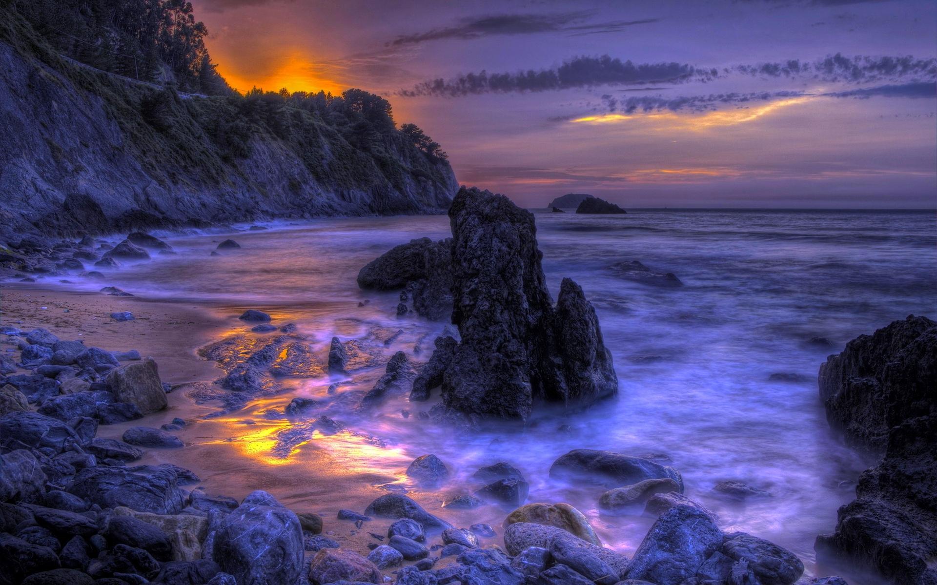 beach dusk 32486