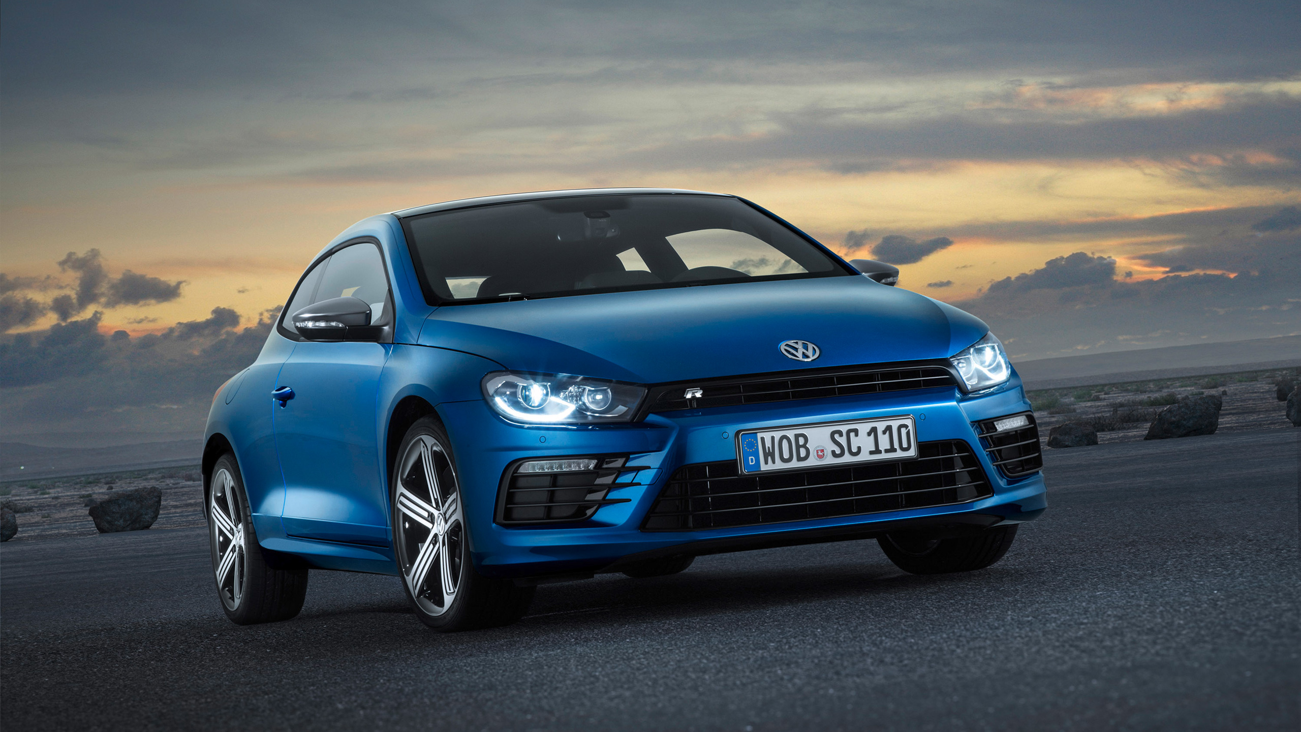 blue volkswagen scirocco wallpaper 42992