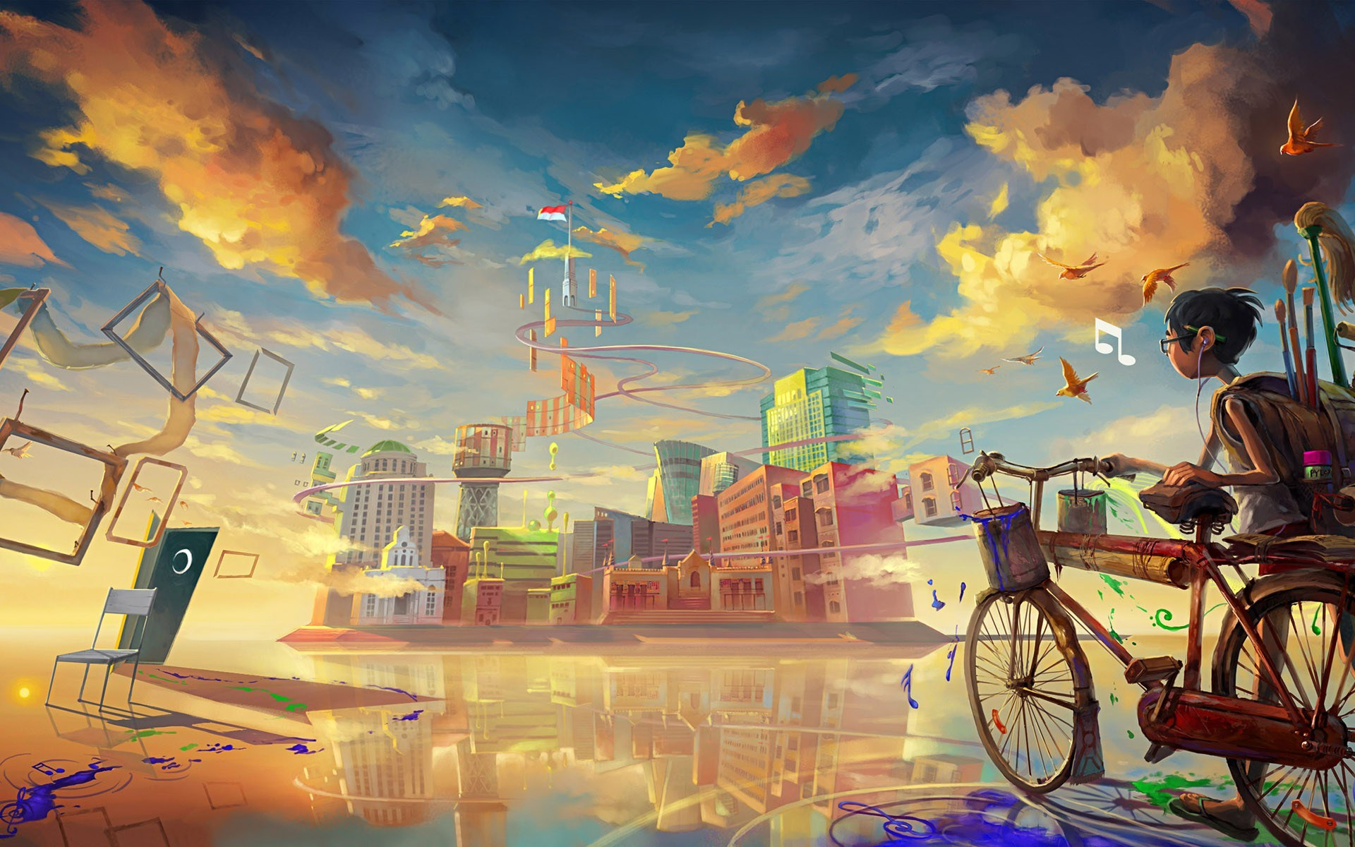 download cool anime city wallpaper 42579 1920x1200 px high