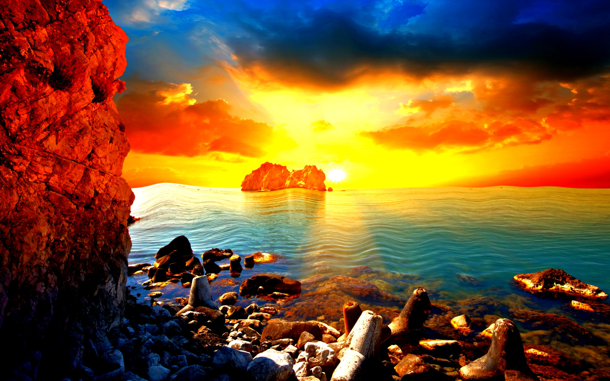 Crazy Beach Sunset Wallpaper 28807