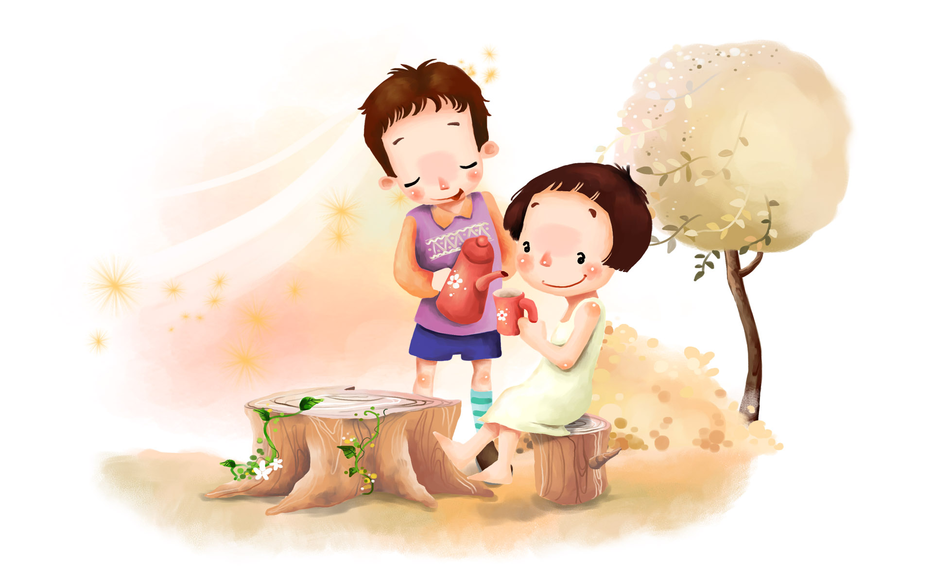 cartoon Boy And Girl Love Wallpaper Hd : cute cartoons 14247 1920x1200 px ~ HDWallSource.com