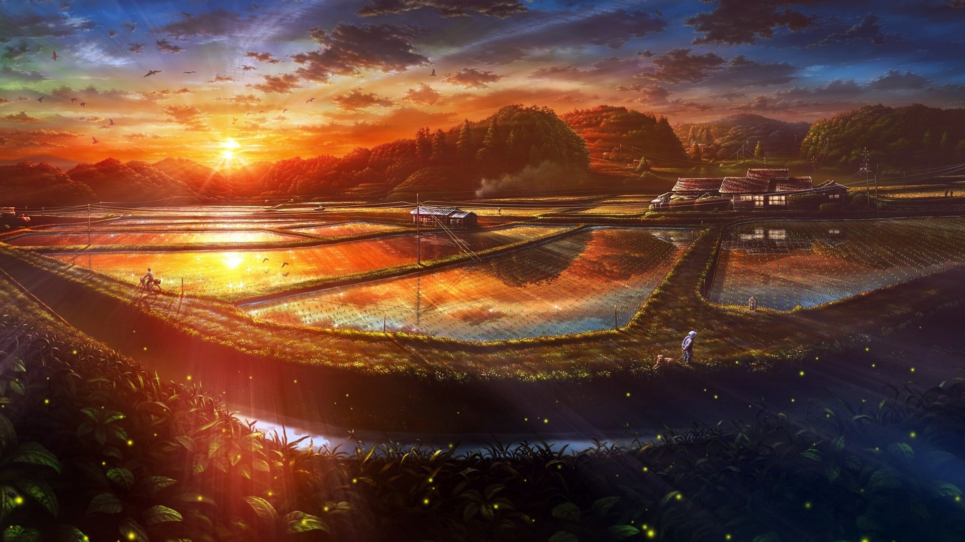 Fantastic Anime Scenery Wallpaper 42596