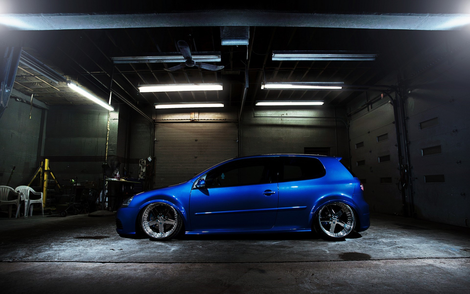 fantastic blue volkswagen gti wallpaper 42980