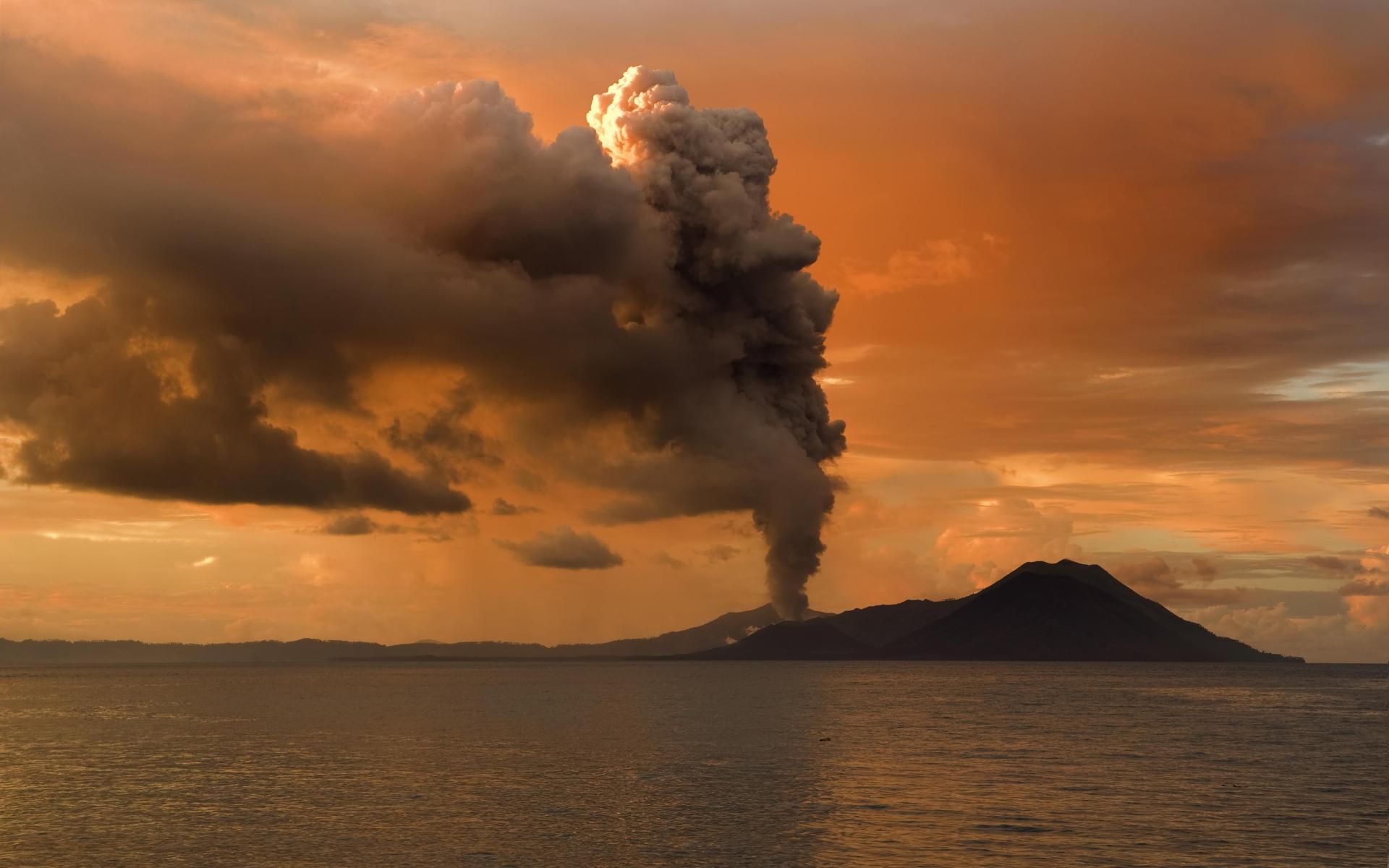 free volcano smoke wallpaper 42563