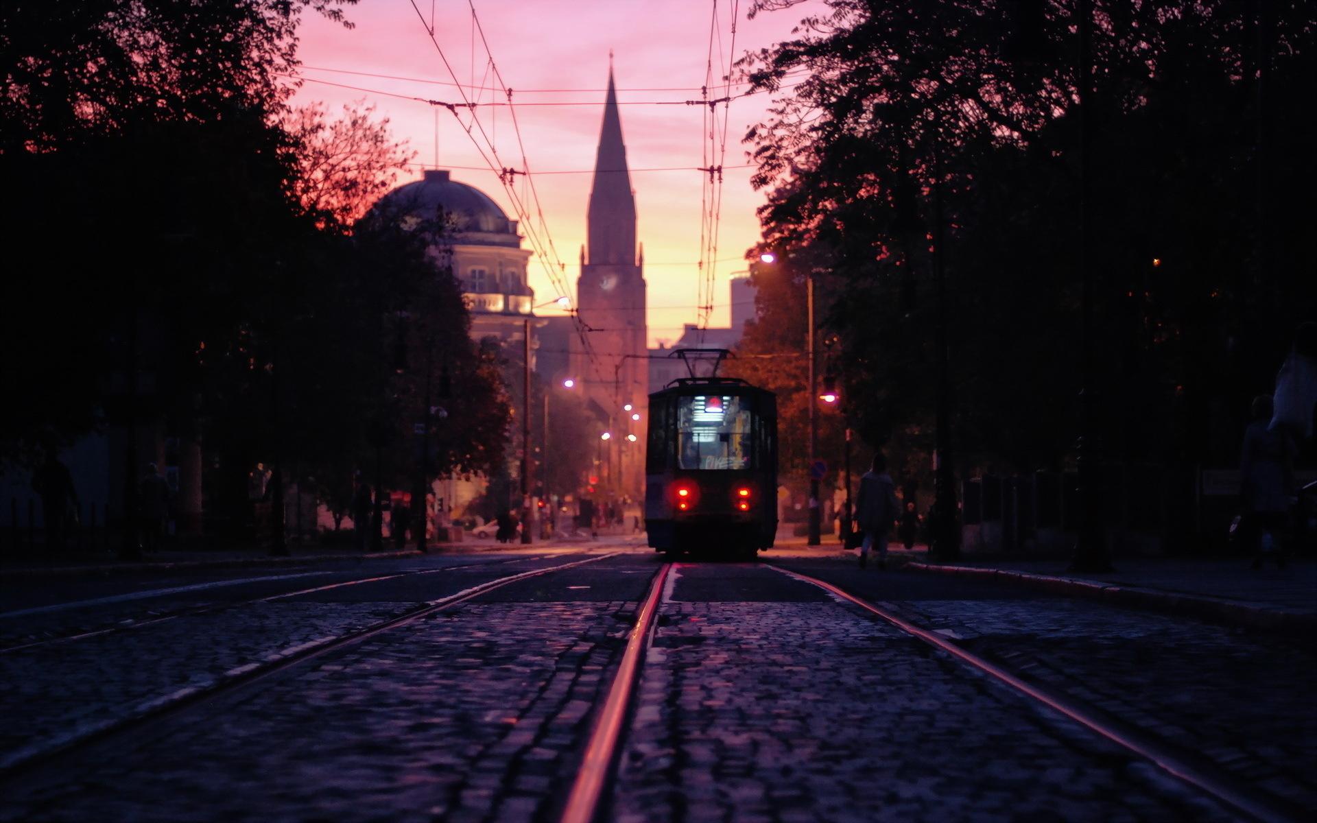 pretty tram wallpaper 40721