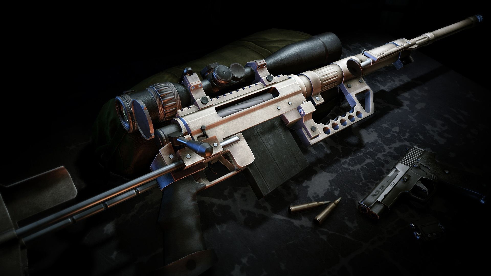 Pictures of Sniper Gun Wallpaper 3d - #rock-cafe