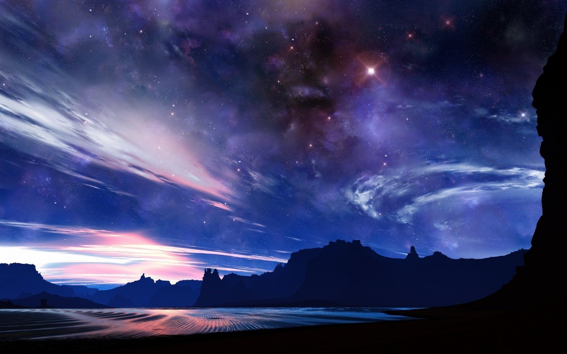 Free Starry Night Sky Background Loop [free worship loops] - YouTube