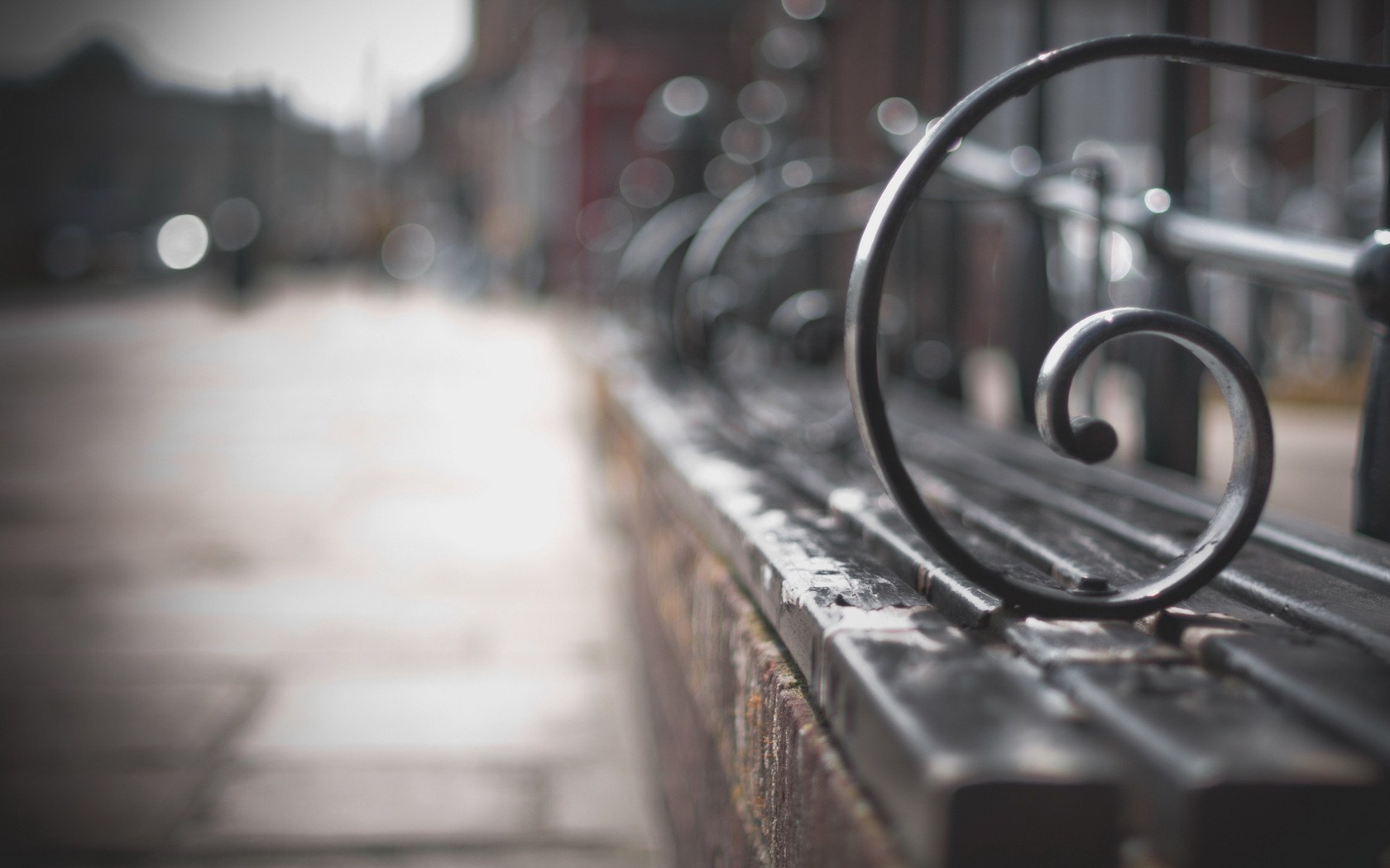 Street Bench Close Up Wallpaper px HDWallSource