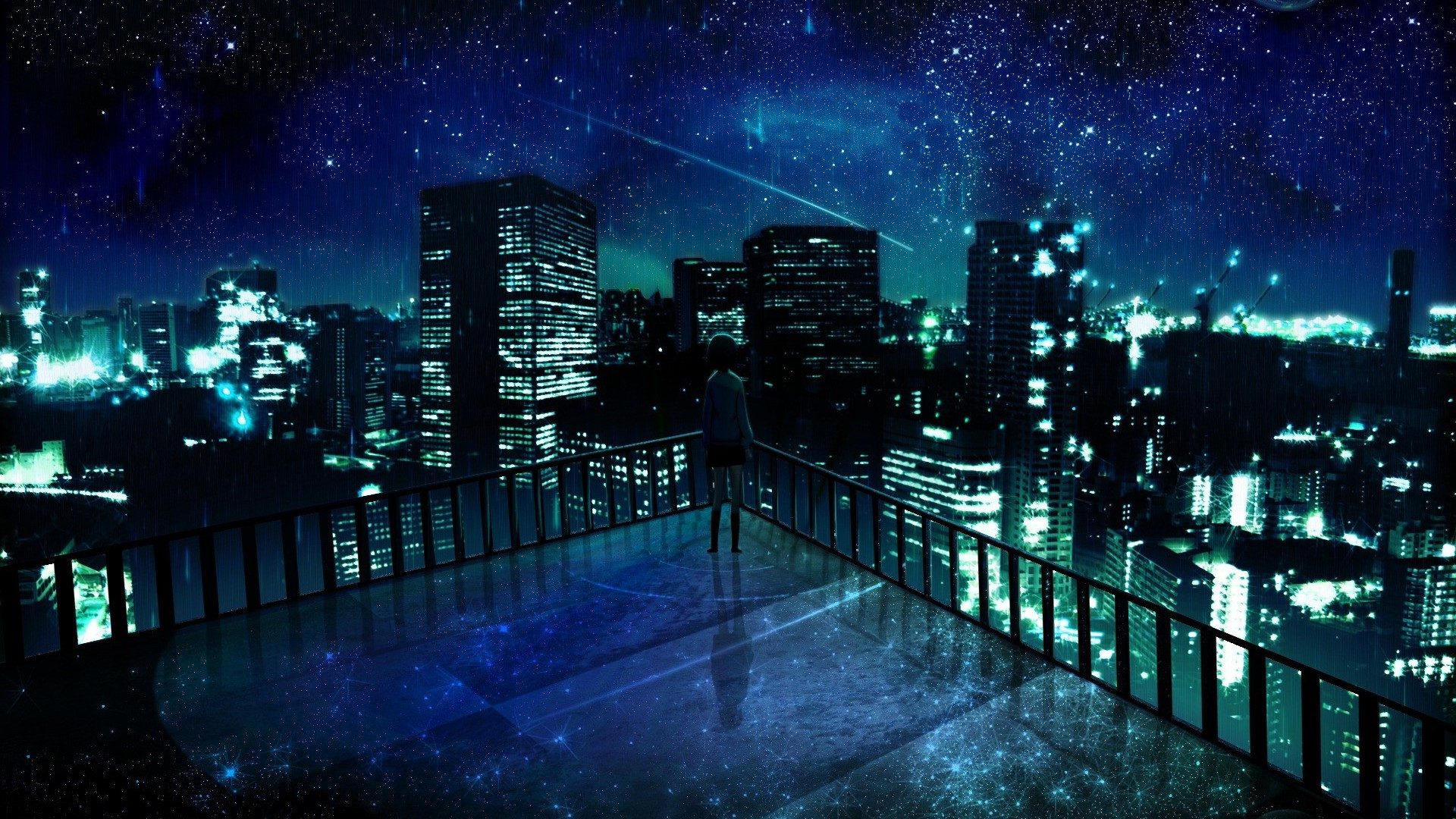 Download Stunning Anime City Wallpaper 42583 1920x1080 Px