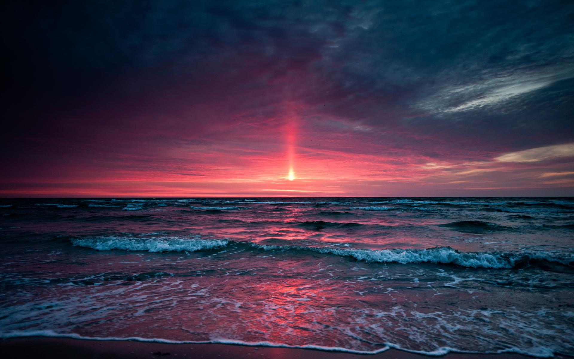 stunning beach sunset 28819