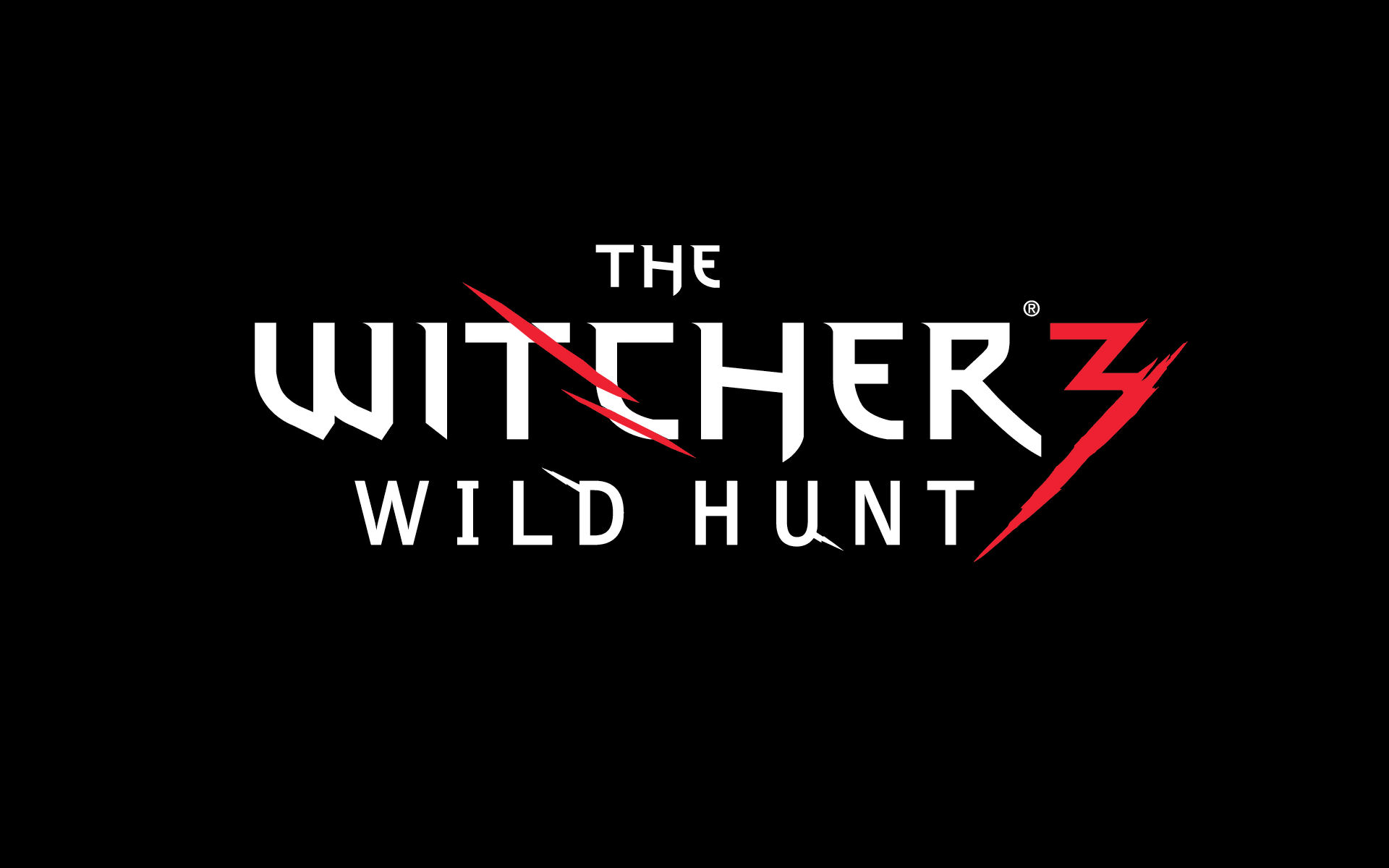 the witcher 3 wild hunt logo wallpaper 44779