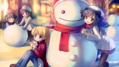 Anime Winter Snowman Wallpaper 42570
