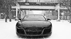 Audi r8 Snow Wallpaper 4809