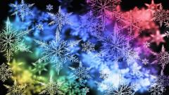 Colorful Snowflake Background 18287