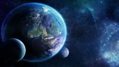 Cool Earth and Moon Wallpaper 33273